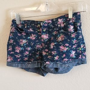 Free Planet flower jean cutoff rolled shorts 14
